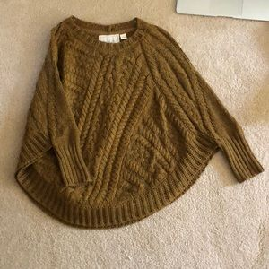 Anthropologie Cableknit poncho